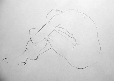Resting Acrobat (pencil)