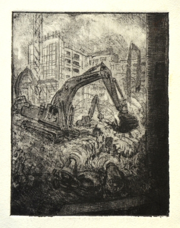 Digger at Aldgate (etching)