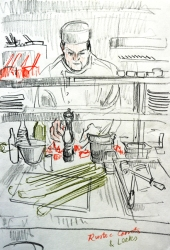 Making rustic soup (pencil)