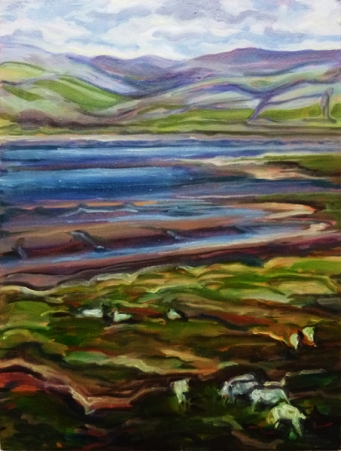 Lake District Estuary (oil on board)
