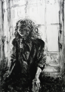 Woman by a window at Kensington Palace (monotype)