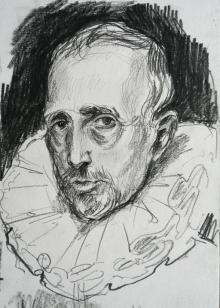 Cornelis van der Geest, after van Dyck (pencil)