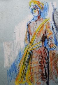 Indian costume (pastel)